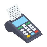 Pos Terminal and Invoice vector