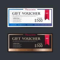 Gift voucher discount template vector