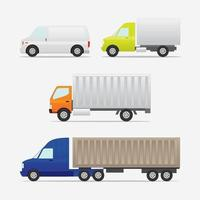 Box car vector object in side view flat illustration
