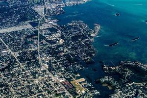 Tampa from the air while landing, Tampa, Florida, United States photo