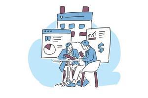 people talk business illustration hand draw vector