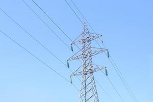 High Voltage Electric Transmission Tower Energy Pylon photo