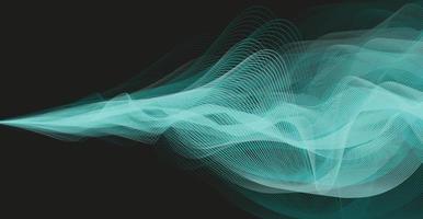 Onda de sonido digital azul oscuro y concepto de onda de terremoto, diseño para estudio de música y ciencia, ilustración vectorial. vector