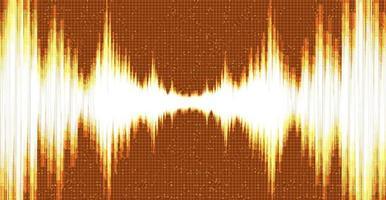 tecnología de onda de sonido digital naranja y concepto de onda de terremoto, diseño para estudio de música y ciencia, ilustración vectorial. vector