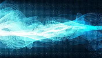 Onda de sonido digital azul abstracto y concepto de onda de terremoto, diseño para estudio de música y ciencia, ilustración vectorial. vector