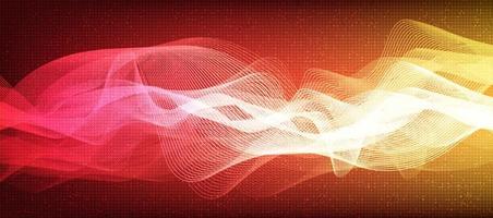 Fondo de onda de sonido digital colorido, concepto de diagrama de onda de terremoto y tecnología, diseño para estudio de música y ciencia, ilustración vectorial. vector