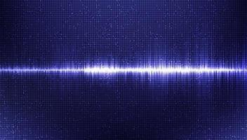 onda de sonido electrónica escala de Richter baja y alta sobre fondo azul, concepto de diagrama de onda digital y terremoto, diseño para estudio de música y ciencia, ilustración vectorial. vector