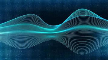 agitando la onda de sonido digital y el concepto de onda de terremoto, diseño para estudio de música y ciencia, ilustración vectorial. vector