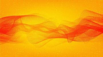 Escala de Richter baja y alta de onda de sonido digital roja moderna sobre fondo amarillo, concepto de diagrama de onda de terremoto y tecnología, ilustración vectorial. vector