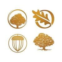 oak gold luxury concept logo vector template set