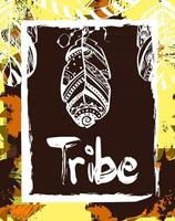 Vector illustration for t-shirts, posters, card and other uses. Boho chic. Ethnic style.