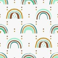 Seamless pattern with abstract rainbows. vector