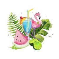 Exotic summer composition. vector