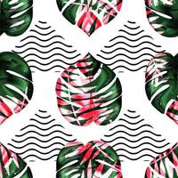 Exotic seamless tropical pattern. vector