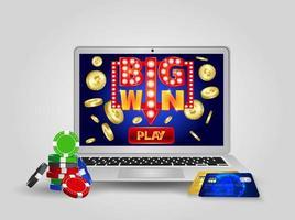 Online casino design banner. vector