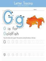 G for Goldfish vector