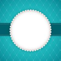 Abstract Beautuful Background with Pearl Frame. Vector Illustration