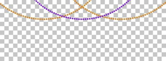 String garlands with balls , isolated on transparent background. Vector Illustration
