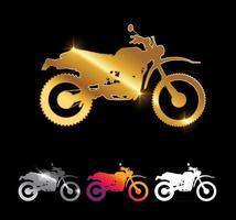 Luxury Motorcycle Dirt Bike Sign vector