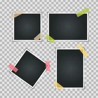Instant Photos on Transparent  Background  Vector Illustration