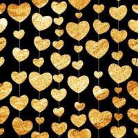 corazón, amor, seamless, patrón, plano de fondo, vector, ilustración vector