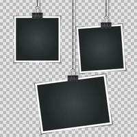 Abstract Photos on Transparent  Background  Vector Illustration
