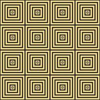 yellow background cool trend seamless pattern spiral confuse twirling square themed traditional culture of inland tribe jungle vector
