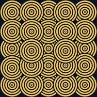 flaming yellow background cool trend seamless pattern twirling circle themed traditional culture of inland tribe jungle vector