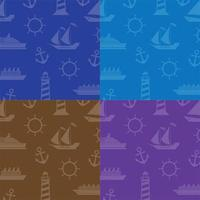 Pattern in marine style vector