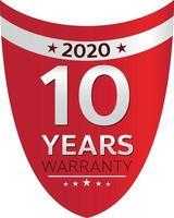 warranty shop promotion tag design for marketing vector