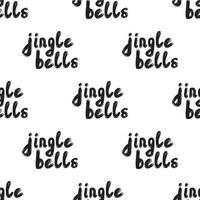 Seamless pattern with Handwritten calligraphy - Jingle bells. vector