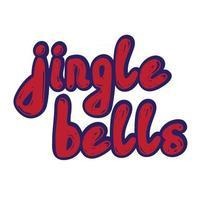 Jingle bells. Handwritten calligraphy. vector