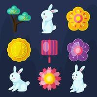 Mid Autumn Icon Collection vector