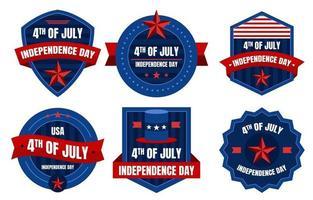 4th Of July Badge Set vector