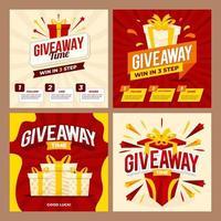 Giveaway Social Media Post vector