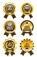 Made in Indonesia Badge Set vector
