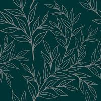 SEAMLESS BACKGROUND WITH BRANCHES OF RUSKUS vector