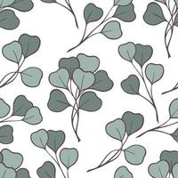 PATTERN WITH EUCALYPTUS BRANCHES vector
