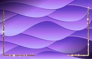 plantilla de fondo de onda púrpura moderna vector
