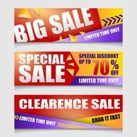 Modern Promotional Sale Banner Template Set vector