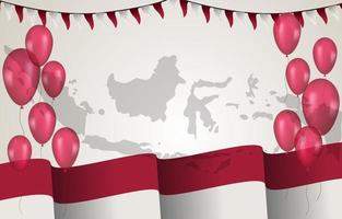 Indonesia Independence Day Background vector