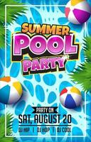 Summer Pool Party Poster Template vector
