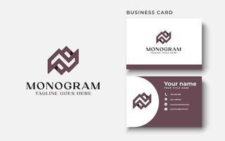 Letter N Monogram Logo Template In Isolated White Background Vector Illustration