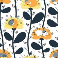 Seamless pattern with sleeping animals vector