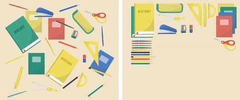 Illustration of a Table with a Dirty and Clean school desk vector