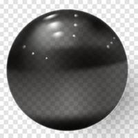 bola de cristal transparente realista vector de esfera transparente