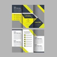 Construction Tri Fold Brochure Templates vector