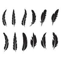 logotipo de diseño de ilustración de vector de icono de pluma