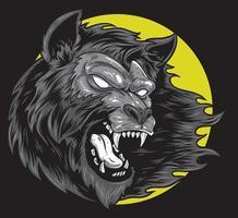 wolf monster art vector