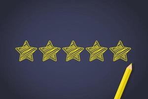 Yellow stars rating vector